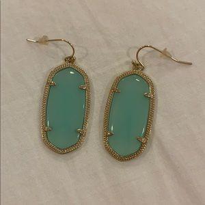 Kendra Scott Elle earrings chalcedony green
